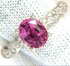 GIA 2.26ct natural no heat sapphire diamond ring 14kt. unheated purple pink $6K