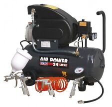 Sealey COMPRESSORE 24ltr DIRECT DRIVE 2HP Con 4PC Aria Accessorio Kit sac2420epk