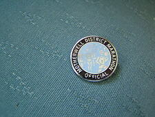 OLD MOTHERWELL DISTRICT MARATHON OFFICIAL - ENAMEL ATHLETICS PIN BADGE