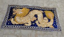 Antique Beautiful Thai Dragon Embroidered Wall Hanging 133x73cm (H6)