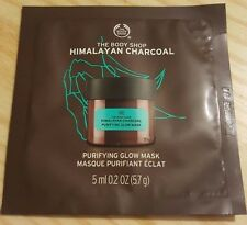 NEW THE BODY SHOP Himalayan Charcoal Purifying Glow Mask 5ml x 2 (10ml)