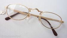 Scarabee Lesebrille ohne Glas Halbbrille Antiklook Rahmen Metallfassung mattgold