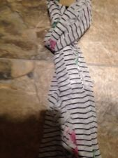 Joules Black White Pink And Green Scarf New With Tags