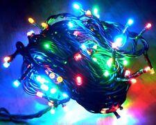 100 LED Lichterkette 8 Blink Funktion Weihnachtsbaum Tannenbaum Party Grün BUNT