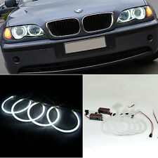4x BMW 3 Serie E46 Sedan Coupe CCFL Angel Eye Halo Light White Non-Projector