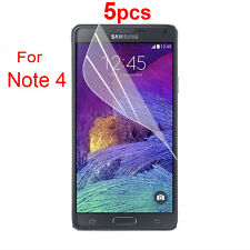 5 X Ultra Clear LCD Screen Protector Protective Film For Samsung Galaxy Note 4