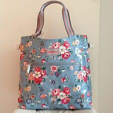 BNWT Cath Kidston Forest Bunch Tall Zipped Handbag (Pale Blu)