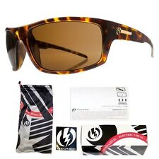 NEW Electric Tech One Tortoise Shell Polarized Mens Wrap Sunglasses Msrp$160