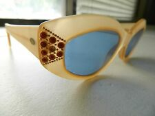 NOUVELLE VAGUE SUNGLASSES , MOD MELVA P37 PLASTIC BEIGE VERY COOL Rare unique