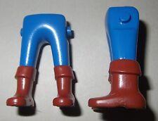 05416, 2x Beine, Stulpenstiefel, alt, blau, braun