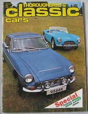 Classic Cars 12/1977 featuring MGC, Austin Healey, AC ACE, Jaguar, Bentley