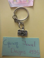 Retro Tibetan Silver Camera Keyring Free Gift Bag Jewelry Photography Lenses