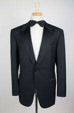 NWT. BRIONI Luxurious Black Wool 1 Button Tuxedo Suit 56/46 R