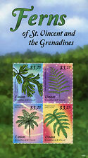 Union Island Grenadines St Vincent 2015 MNH Ferns 4v M/S West Indian Tree Fern