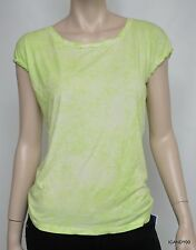 New Tahari Mavis Jersey Knit Tunic Top Blouse Tee T-Shirt ~Lime Drop Green *L