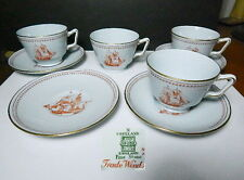 Spode TRADE WINDS Cup and Saucer, 4 Sets