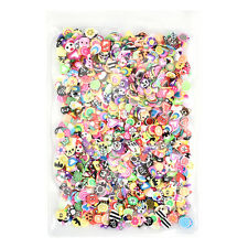 1000pcs DIY Mixed Theme Fimo Slice Clay Nail Art Tips Fruit Animals Decoration
