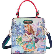 Nicole Lee Tulip Girl Print Structure Handbag - Tulip Satchel NEW