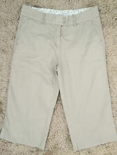 M&Co Womens Sage Cotton 3/4 Length Trousers 12