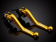 MZS Long Gold Brake Clutch Levers For Kawasaki ZX10R 04-05 Z1000 03-06 ZX12R