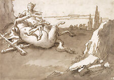 G.B. Tiepolo Reproduction: A Centaur and a Fawn in a Landscape - Fine Art Print