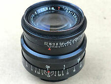 Carl Zeiss Jena 5.8cm f/2 Biotar T 58/2 Black 58mm Exakta Mount Coated Lens