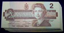 BANK OF CANADA 1986 $2 NOTES  BC-55b-i  **Nice AU to UNC**  5 PCS LOT