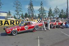Mercury Cougar 1967 works racecars – 1967 Bud Moore Racing paddock action Trans-