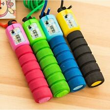 Adjustable Jump Skipping Handle Rope Digital Counter Jumping Workout Gym Fitness