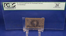 Fr.1232 5c US Fractional Currency 2nd Issue w/o Surcharge PCGS VF 20 (G236)