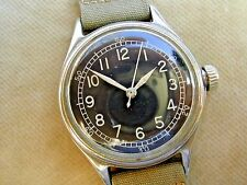 WW2 (c1943) BULOVA RAF PILOT'S 6B/234, US Type A-11 MILITARY, ORIGINAL STRAP.