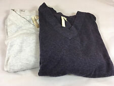 Lot of 2 J Jill PURE Petite3/4 Sleeve Sweater Lounge Tops with Batwings