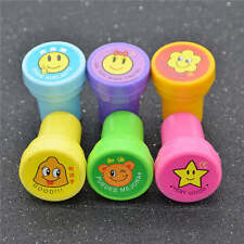 6pcs Personalised children smile inking Stamp Round Lovely Shape Teacher Comment
