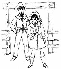 Don't Fence Me In Western Outfit Sewing Pattern For Boy and Girl #5