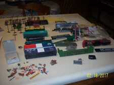 HO Scale Lot of  junk Train Engines, Cars scenery trees signs and more