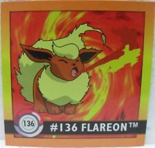 STICKERS ACTION FLIPZ ARTBOX - POKEMON FLAREON - 136/150 misura cm. 5,1 x 5,1