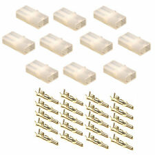 10 Battery Charger Connector Sockets +Terminals (Accumate Compatible) NATURAL