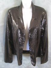 Forever 21 Sequined Blazer Women's Juniors Size XL Black NWT Sparkly Jacket