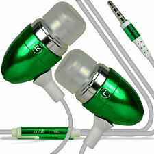 Paquete Doble Verde Manos libres Auriculares Con Micrófono Para Apple Iphone 5C