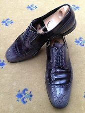Prada Mens Black Leather Lace Up Shoes UK 10 US 11 EU 44 Shaded