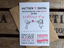 50 invitaciones de boda personalizado hecho a mano Rustica Vintage Con Sobres