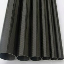 2pcs Roll Wrapped Carbon Fiber Tube 3K 12mm*14mm*500mm Best Quality Glossy Tube