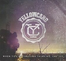 Yellowcard - When You're Through Thinking Say Yes NEW CD