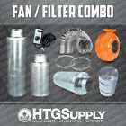 4 CARBON FILTER FAN COMBO SCRUBBER ODOR CONTROL VENTILATION DUCT MUFFLER DUCTING