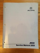 2001 OEM Acura MDX Service Shop Repair Manual Book Engine Drivetrain Electrical