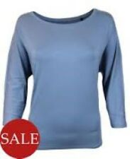 Luisa Cerano 3/4 Sleeve T-shirt Blue Size 42 (UK 16) RRP £89 Box4573 O