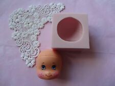 Sweet Face doll ,  silicone mold fondant cake decorating APPROVED FOR FOOD
