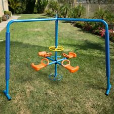 Ironkids Four Station Fun Filled Merry Go Round, Blue