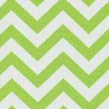 Green Chevron Outdoor Fabric Outdoor Lime Green White Zig Zag Fabric by the Yard