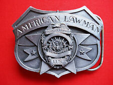 SISKIYOU  BELT BUCKLE - AMERICAN LAWMAN  TO SERVE AND PROTECT INC *1986